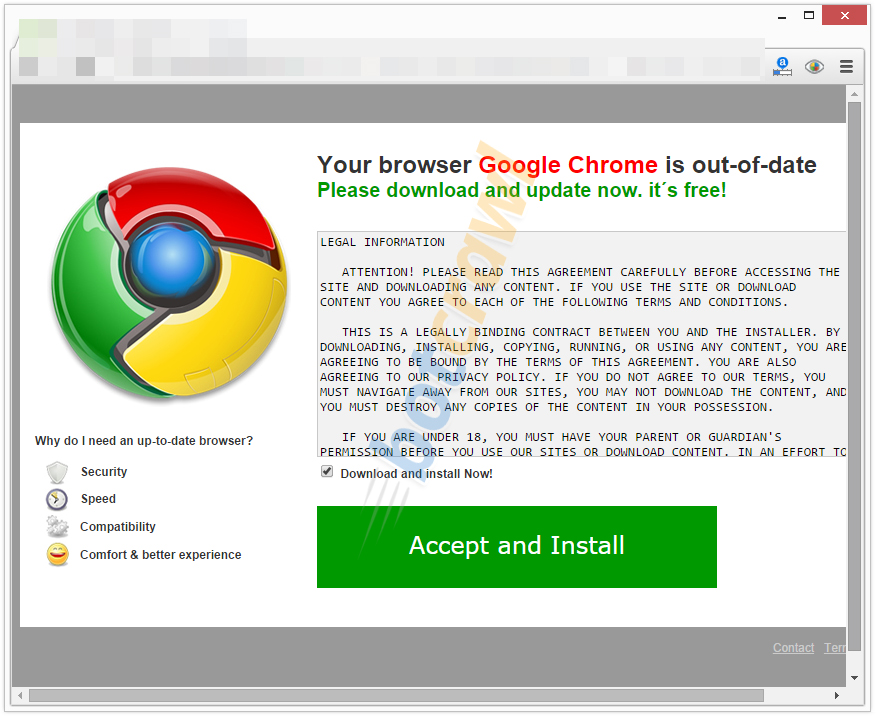 How to remove Update Google Chrome (Virus Removal Guide)