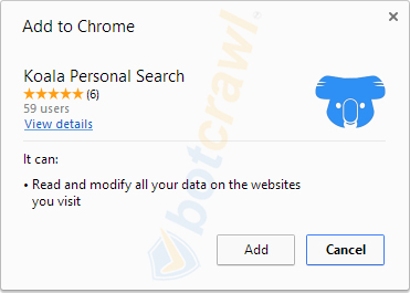 Koala Personal Search virus