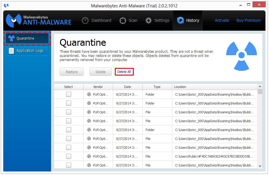 BrowseStudio virus removal 3