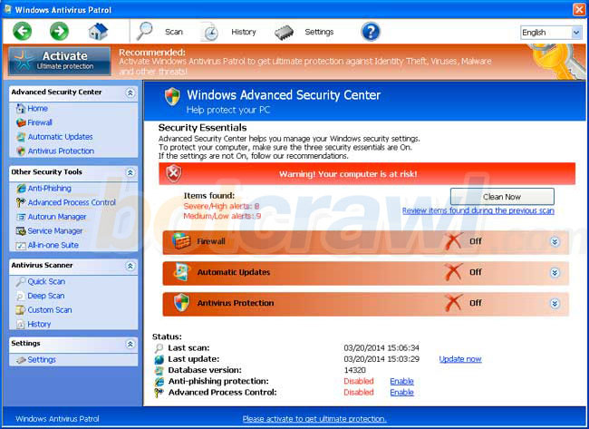 Windows Antivirus Adviser