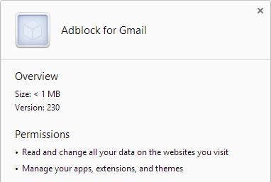 Adblock for Gmail virus