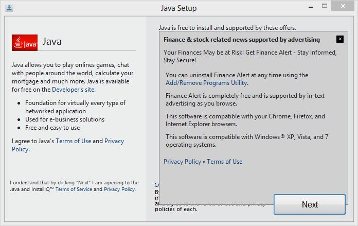 Java 7 Update 65 virus