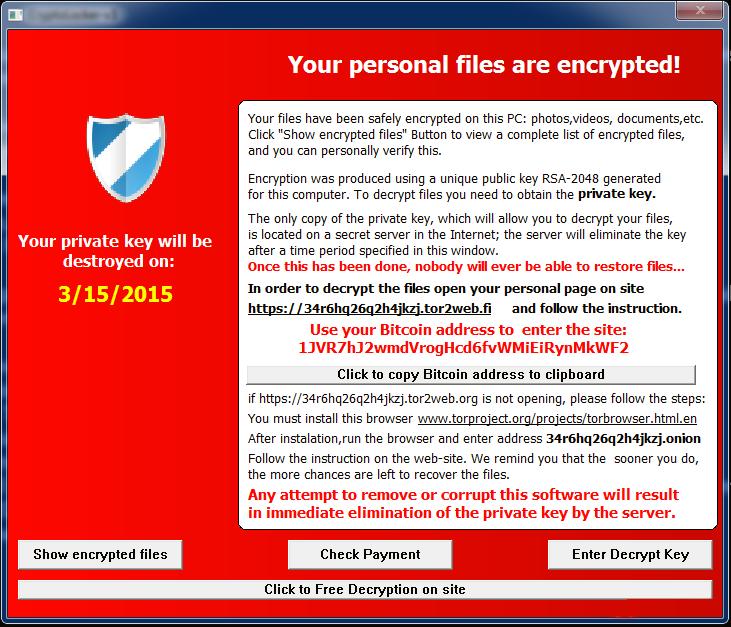 CrypVault virus