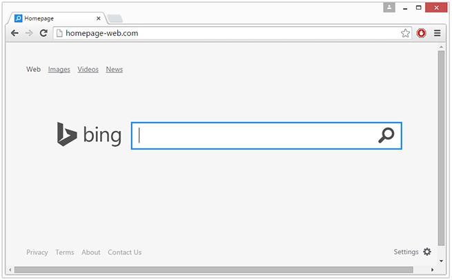 Homepage-web virus