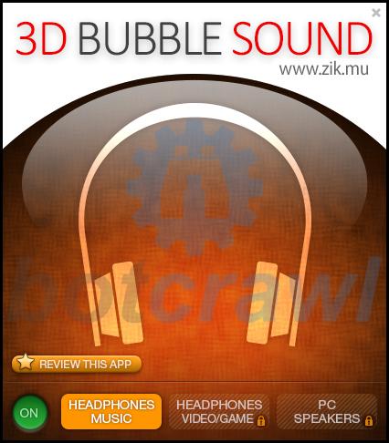 3D Bubble Sound