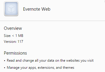 Evernote Web virus