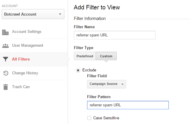 block referrer spam google analytics