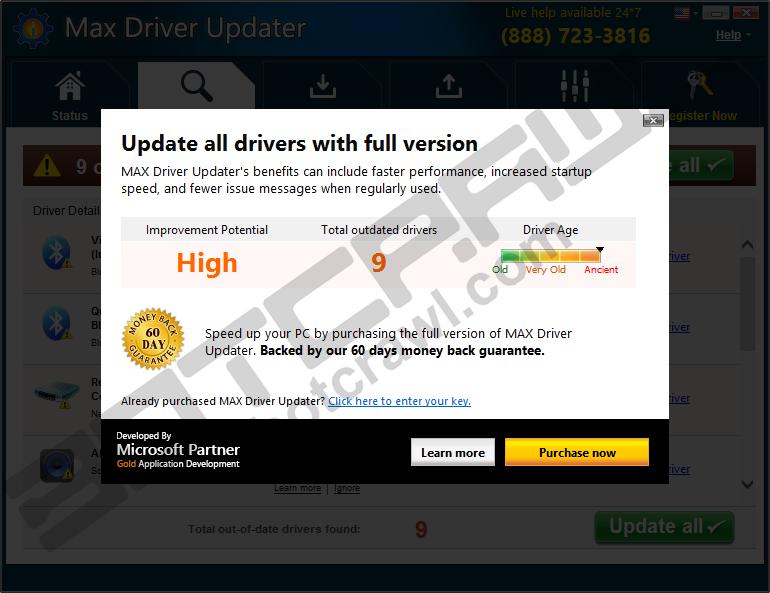 Max Driver Updater virus