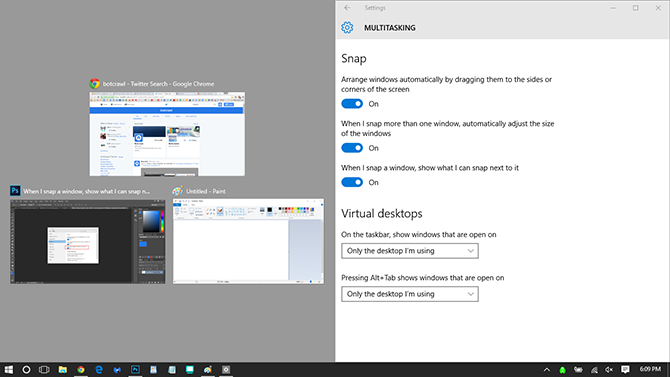 Windows 10 multi program screen window docked