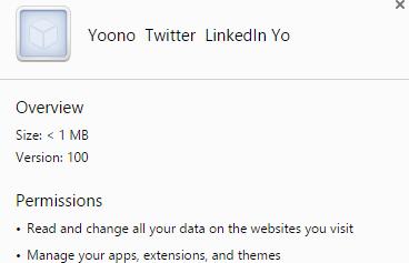 Yoono Twitter LinkedIn Yo virus