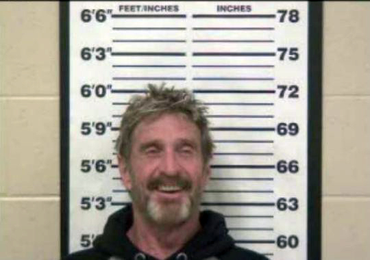 John McAfee arrested