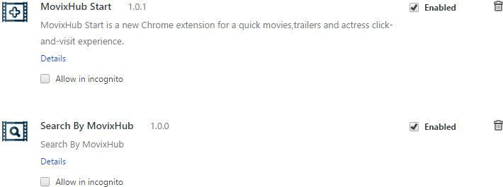 MovixHub Start and Search By MovixHub extensions