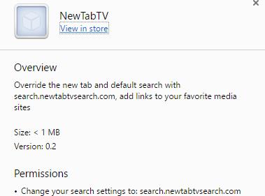 NewTabTV virus