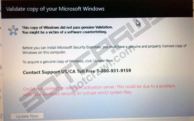 "How to remove ""Validate copy of your Microsoft Windows"""