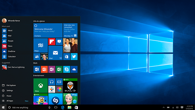 Windows 10 can automatically disable pirated software, unauthorized hardware