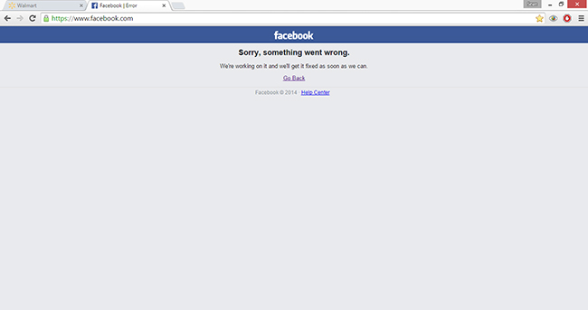 Facebook is currently down
