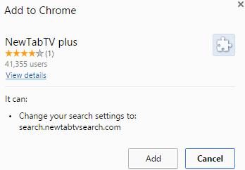 NewTabTV plus removal