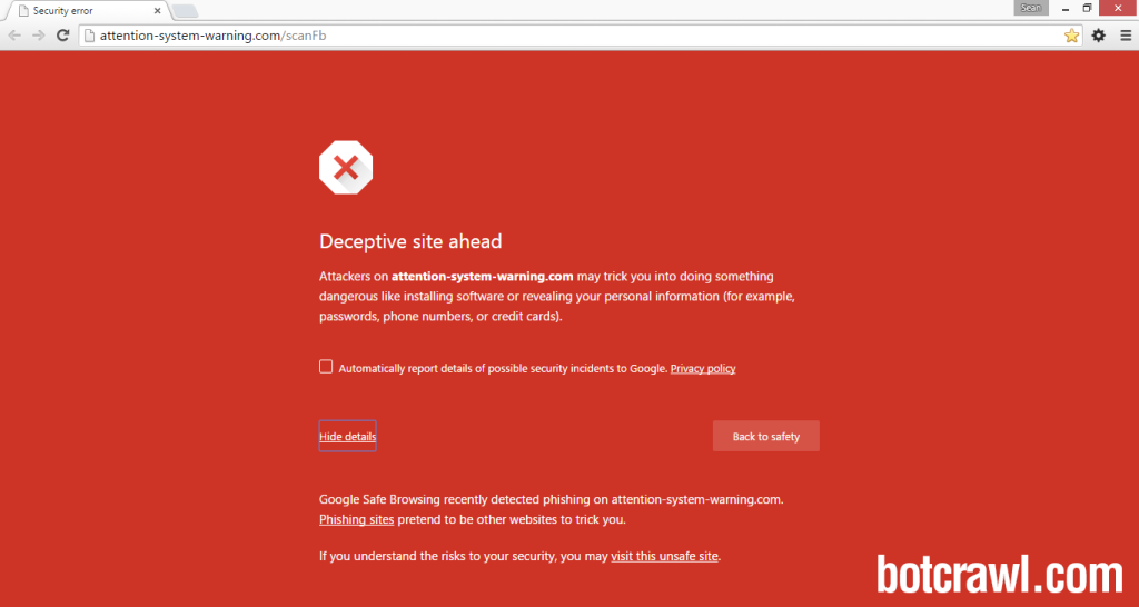 How To Block Quot Deceptive Site Ahead Quot Security Error On