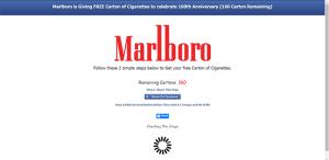 Marlboro is Giving FREE Carton of Cigarettes to celebrate 100th Anniversary