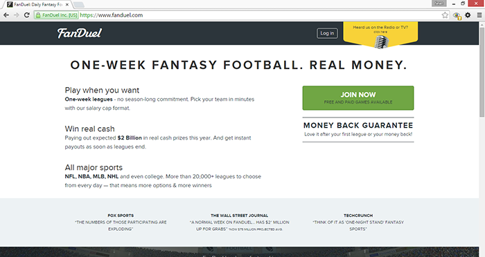 block fanduel ads