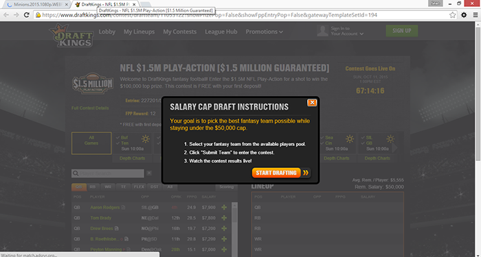 How to block DraftKings advertisements in your browser