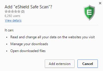 eShield Safe Scan virus