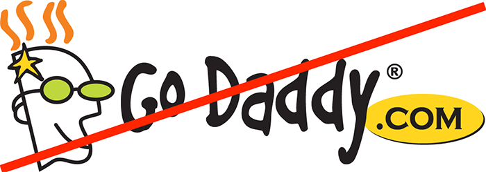 never register a domain with GoDaddy