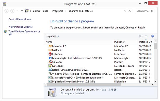 remove Microfast PC