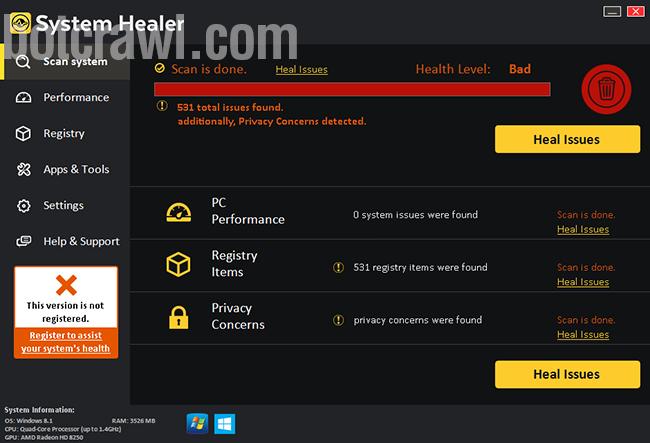 system healer virus