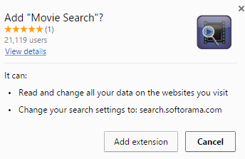 Movie Search extension