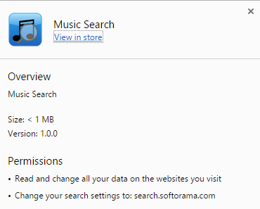 Music Search virus