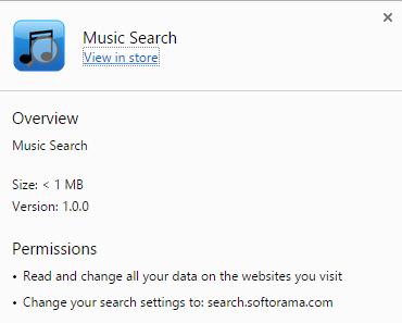 Music Search virus