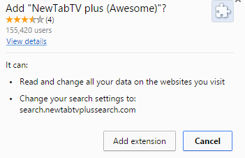 NewTabTV plus (Awesome) extension