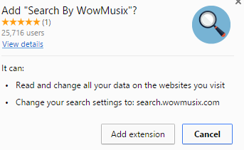 Search By WowMusix extension