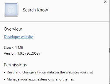Search Know extension