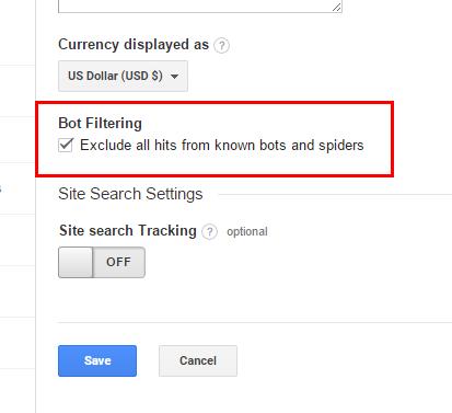 bot filtering google analytics