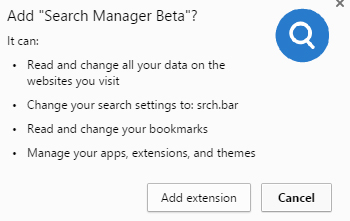 Search Manager Beta extension