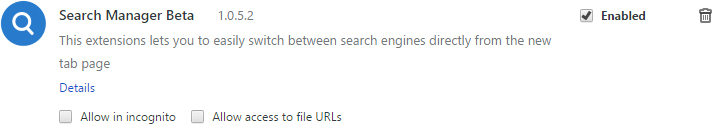 Search Manager Beta removal