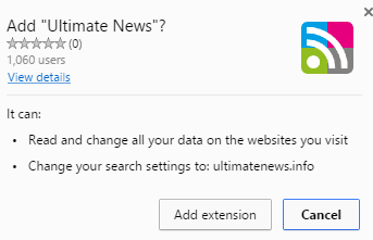 Ultimate News extension