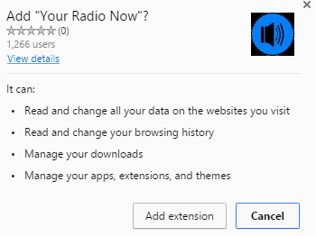 Your Radio Now extension