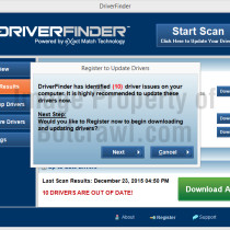driverfinder pop-up