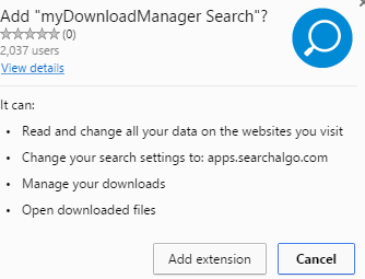 myDownloadManager Search extension