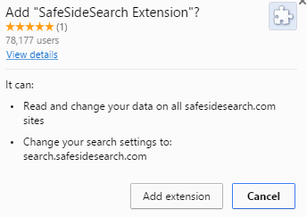 what is SafeSideSearch Extension