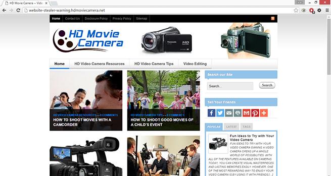 what is website-stealer-warning.hdmoviecamera.net