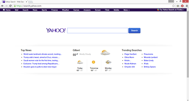 yahoo for chrome