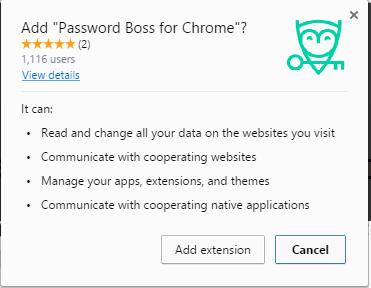 Password Boss for Chrome extension