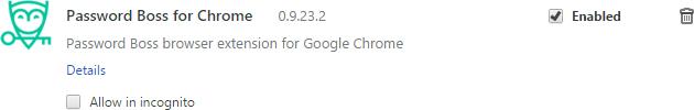 PasswordBoss chrome