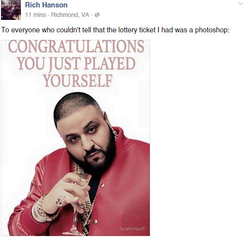 Rich Hanson hoax