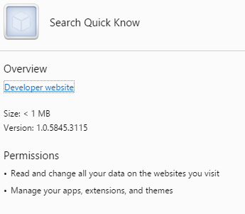 Search Quick Know virus