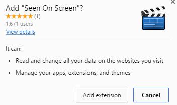 Seen On Screen virus